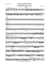 A Chequered Version of Hungarian Dance No.5, for ten-piece brass ensemble and snare drum - Parts