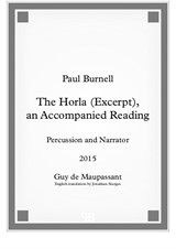 The Horla (Excerpt), an Accompanied Reading, for percussion and narrator