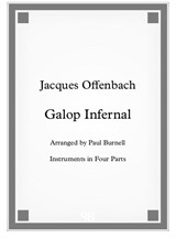 Galop Infernal, for instruments in four parts - Score and Parts